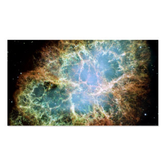 Nebulosa de cangrejo - telescopio de Hubble Tarjetas De Visita