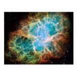 Nebulosa de cangrejo - telescopio de Hubble Tarjetas Postales