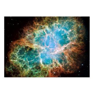 Nebulosa de cangrejo - telescopio de Hubble Tarjetas De Visita Grandes
