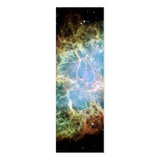 Nebulosa de cangrejo - telescopio de Hubble Tarjetas De Visita Mini