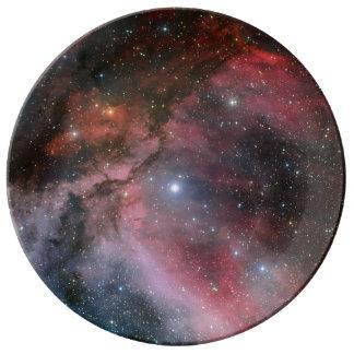 Nebulosa de Carina alrededor de la estrella WR 22  Platos De Cerámica
