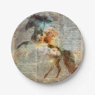 Nebulosa de Carina del unicornio Plato De Papel De 7 Pulgadas