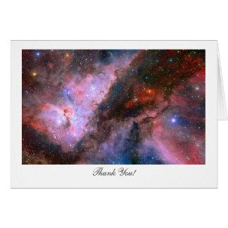 Nebulosa de Carina - diciendo gracias Tarjeta De Felicitación
