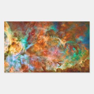 Nebulosa de Carina en la constelación de Argo Pegatina Rectangular