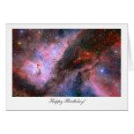 Nebulosa de Carina - feliz cumpleaños Tarjeta De Felicitación