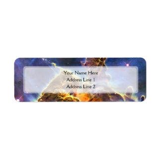Nebulosa de Carina (telescopio de Hubble) Etiquetas De Remite
