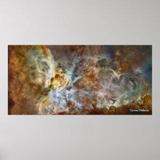 Nebulosa de Carina - telescopio de Hubble Póster