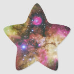 Nebulosa de Carina - universo impresionante Calcomania Forma De Estrella Personalizadas
