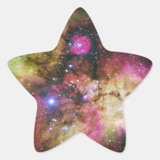 Nebulosa de Carina - universo impresionante Pegatina En Forma De Estrella