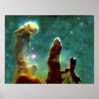 Nebulosa de Eagle en espacio Poster