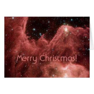 ¡Nebulosa de Eagle Felices Navidad Felicitación