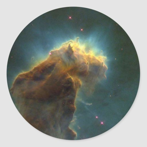 Nebulosa de Eagle Pegatina Redonda