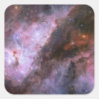 Nebulosa de Eta Carinae Pegatina Cuadrada
