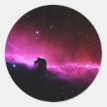 Nebulosa de Horsehead Pegatina Redonda