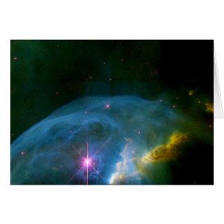 Nebulosa de la burbuja tarjeta de felicitación