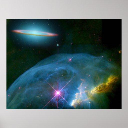 Nebulosa de la burbuja, y póster
