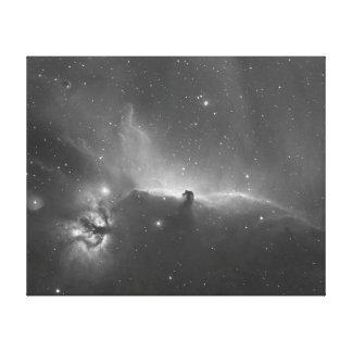 Nebulosa de la cabeza de caballo y la llama impresión en lienzo