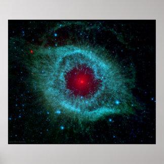 Nebulosa de la hélice el ojo gigante póster