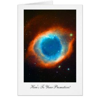 Nebulosa de la hélice - enhorabuena en su tarjeta de felicitación