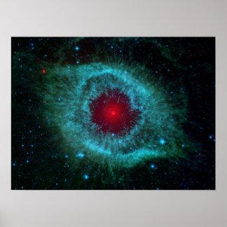 Nebulosa de la hélice, estrellas hermosas en la poster