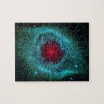 Nebulosa de la hélice, estrellas hermosas en la puzzles con fotos