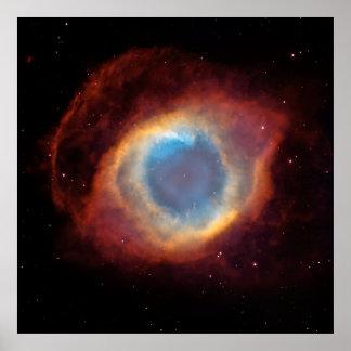 Nebulosa de la hélice [impresión] póster