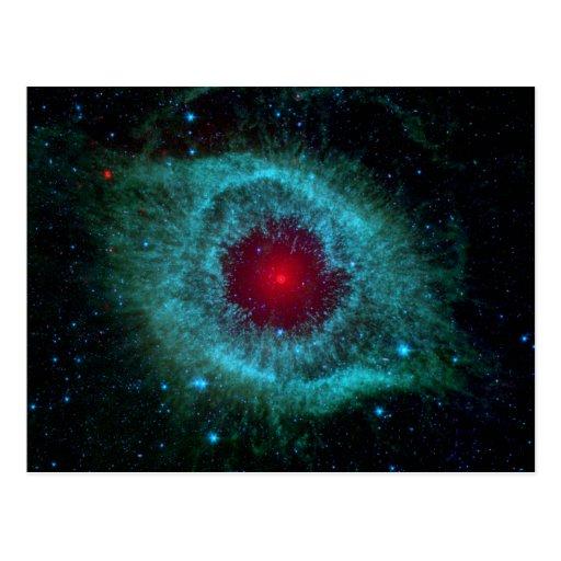 Nebulosa de la hélice - nuestro futuro en 5 mil tarjeta postal