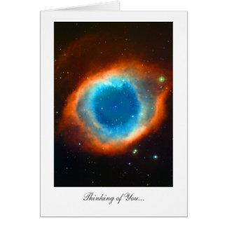 Nebulosa de la hélice - pensando en usted tarjeta de felicitación