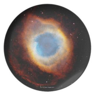 Nebulosa de la hélice plato para fiesta
