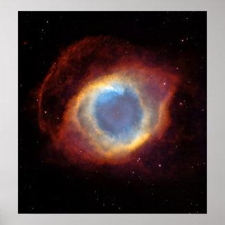 Nebulosa de la hélice (telescopio de Hubble) Poster