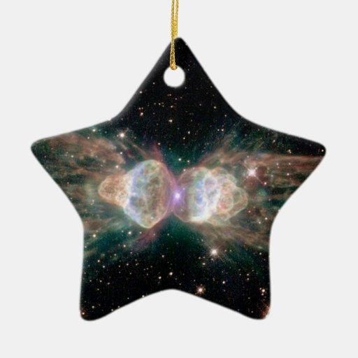 Nebulosa de la hormiga de NASAs Adorno Navideño De Cerámica En Forma De Estrella