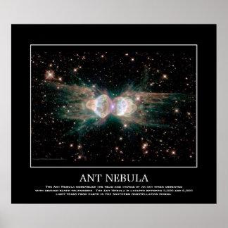Nebulosa de la hormiga - en la constelación Norma Póster