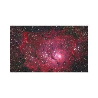 Nebulosa de la laguna lona envuelta para galerias