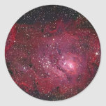 Nebulosa de la laguna pegatina redonda
