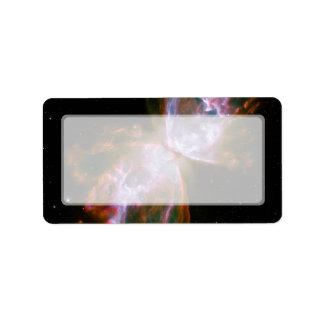 Nebulosa de la mariposa del insecto telescopio de etiqueta de dirección