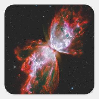 Nebulosa de la mariposa en la constelación de pegatina cuadrada