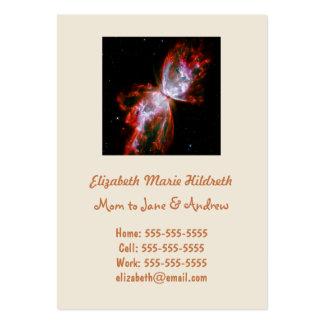 Nebulosa de la mariposa en la constelación de tarjetas de visita grandes