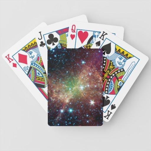 Nebulosa de la pesa de gimnasia baraja de cartas