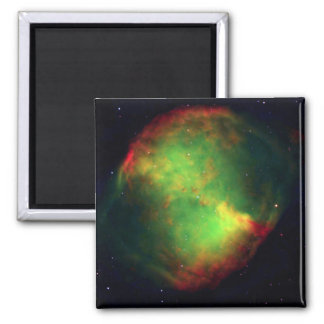 Nebulosa de la pesa de gimnasia iman de nevera