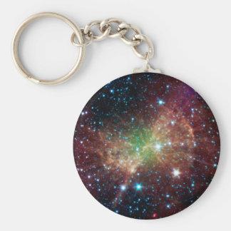 Nebulosa de la pesa de gimnasia llavero redondo tipo pin