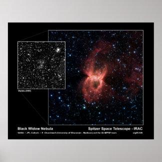 Nebulosa de la viuda negra - telescopio espacial d póster