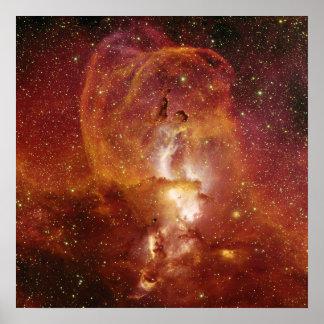 Nebulosa de menor importancia NGC 3582 en el sagit Poster