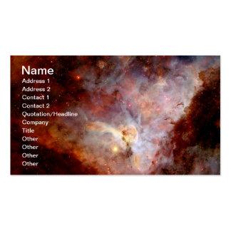 Nebulosa de NASAs Carina Plantilla De Tarjeta De Visita