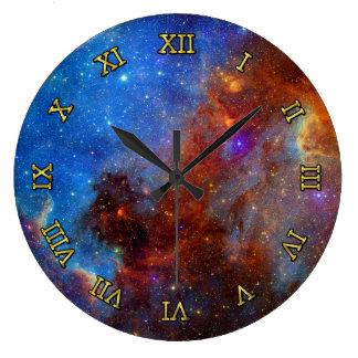 Nebulosa de Norteamérica del espacio exterior Reloj Redondo Grande