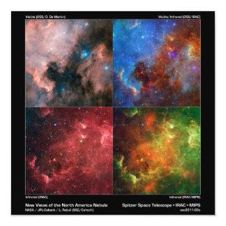"""Nebulosa de Norteamérica en luz visible e Invitación 5.25"""" X 5.25"""""""