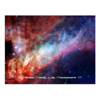 Nebulosa de Omega (17 o un NGC más sucios 6618) Postal