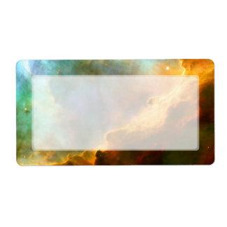 Nebulosa de Omega del cisne telescopio de Hubble Etiquetas De Envío