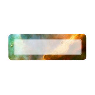 Nebulosa de Omega del cisne telescopio de Hubble Etiqueta De Remite