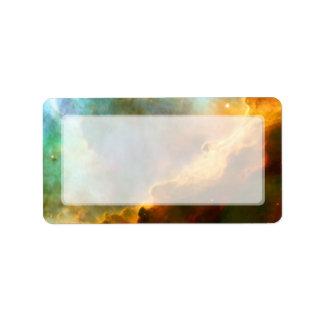 Nebulosa de Omega del cisne telescopio de Hubble Etiquetas De Dirección