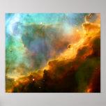 Nebulosa de Omega/del cisne (telescopio de Hubble) Poster